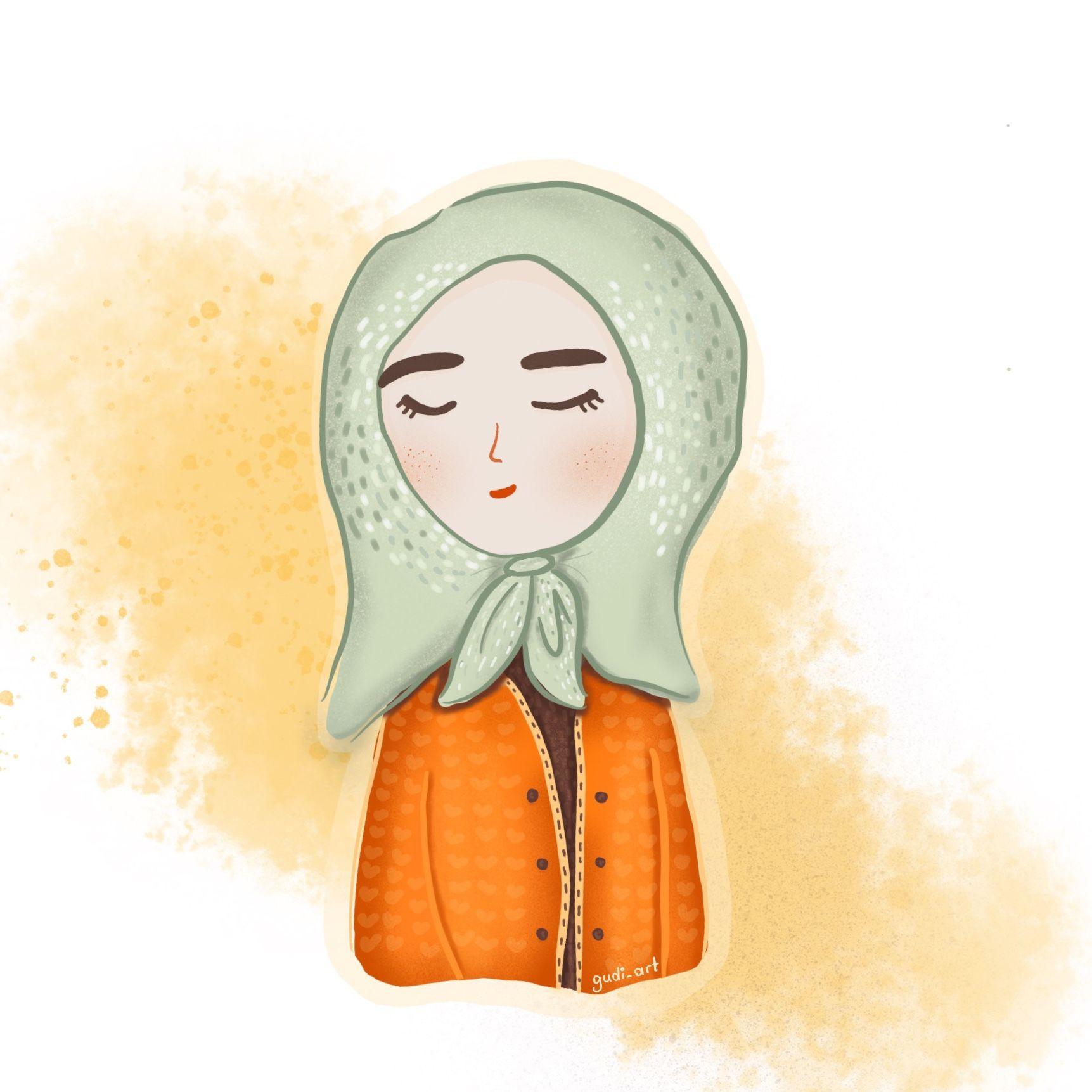 Muslim girl illustration from instagram gudi_art Islami