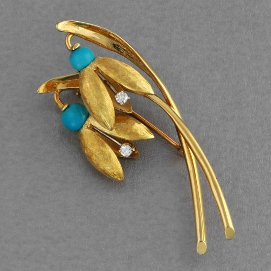Vintage Bluebell Pin | Perry's Fine Antique & Estate Jewelry