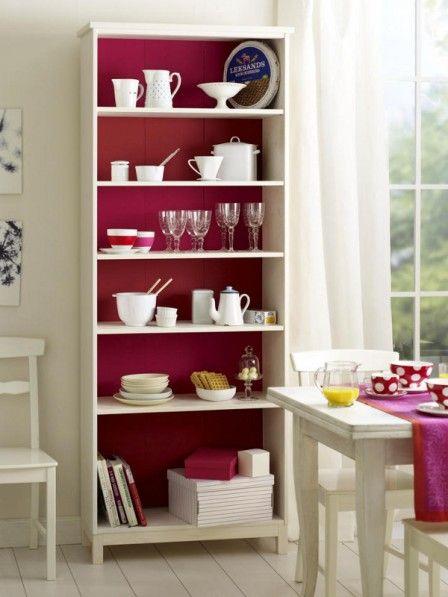 regal mit farbig gestrichener r ckwand regale selbst bauen regal vintage m bel und. Black Bedroom Furniture Sets. Home Design Ideas
