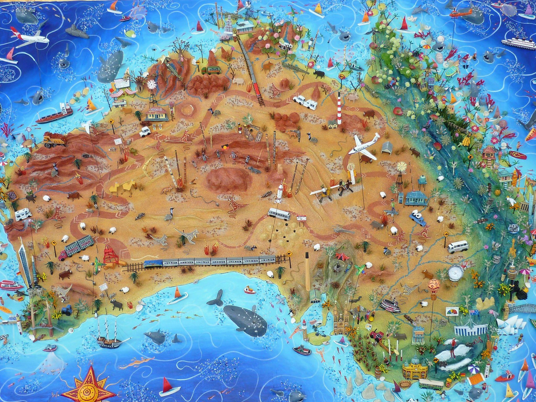 2011 0603mapgiant0001 Australie Cartographie Cartes