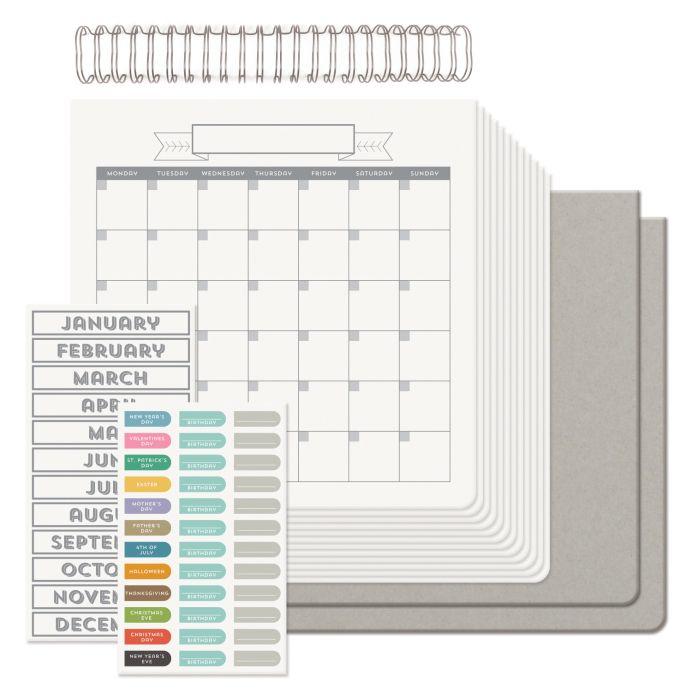 Calendar Kit, We R Memory Keepers, Diy Calendar
