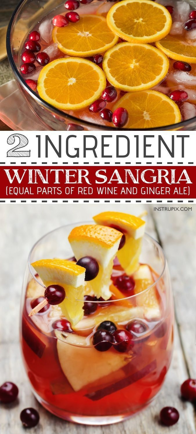 Photo of 6 Two Ingredient Easy Holiday Drink Recipes (with alcohol)