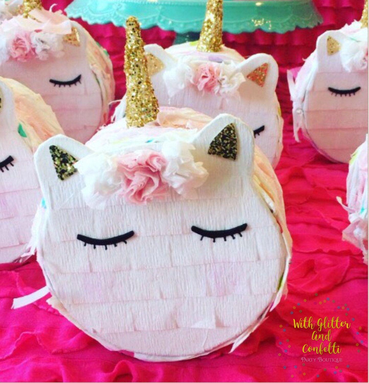 Unicorn Pinata, Unicorn Macaron Pinata, Unicorn Party Favor, Mini ...