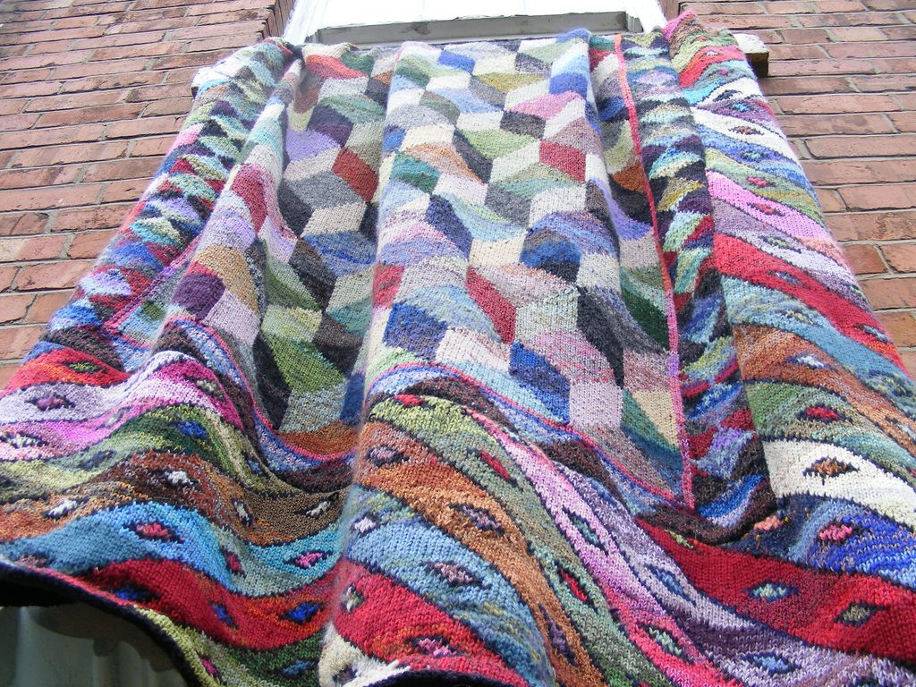Ravelry tumbling blocks bedcover by kaffe fassett knits and ravelry tumbling blocks bedcover pattern by kaffe fassett bankloansurffo Image collections