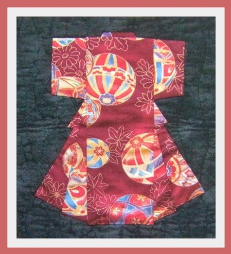Oriental Paper Pieced Quilt Designs Folded Japanese Kimono