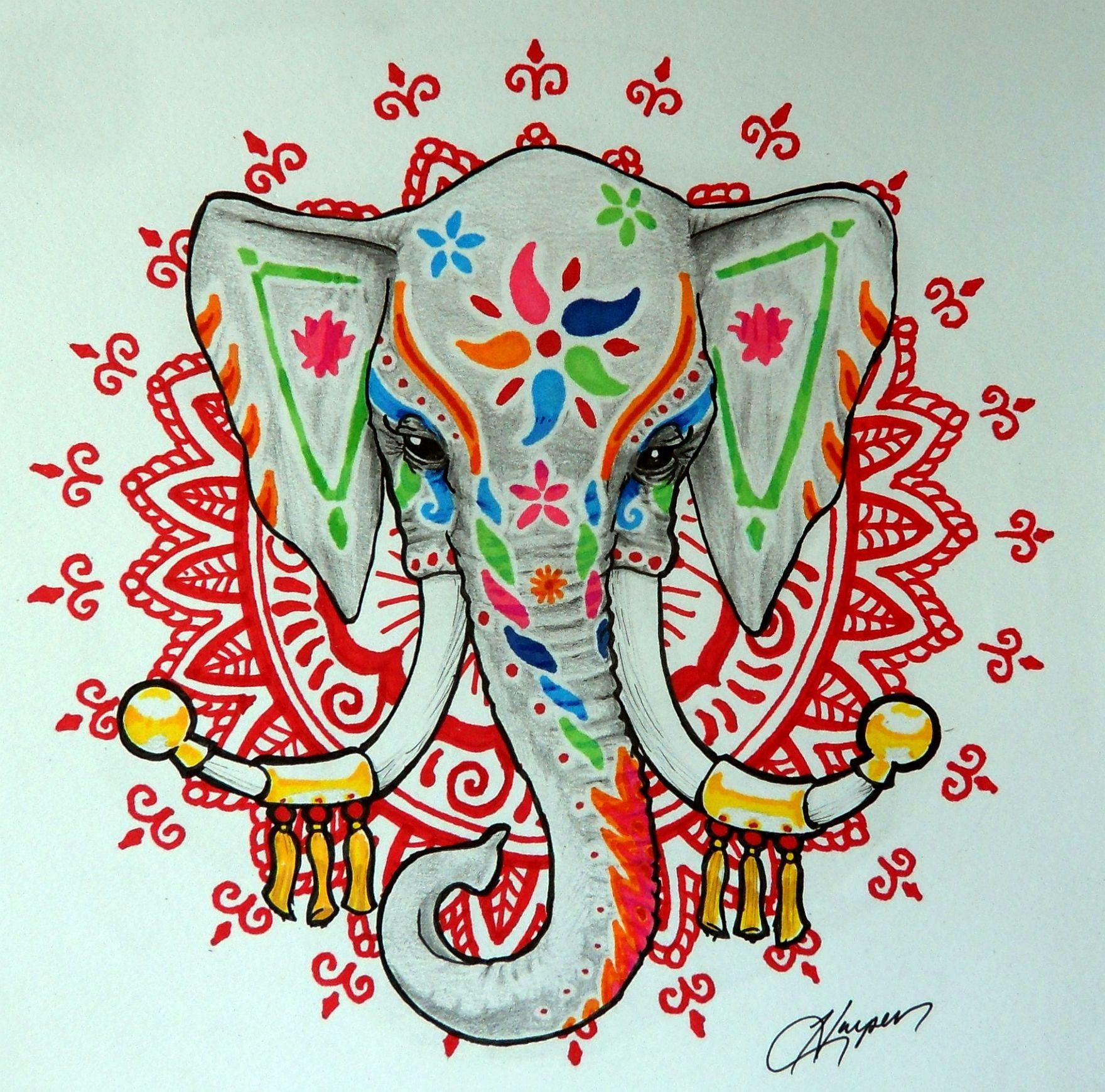 необходимо картинки индийского слона тату это