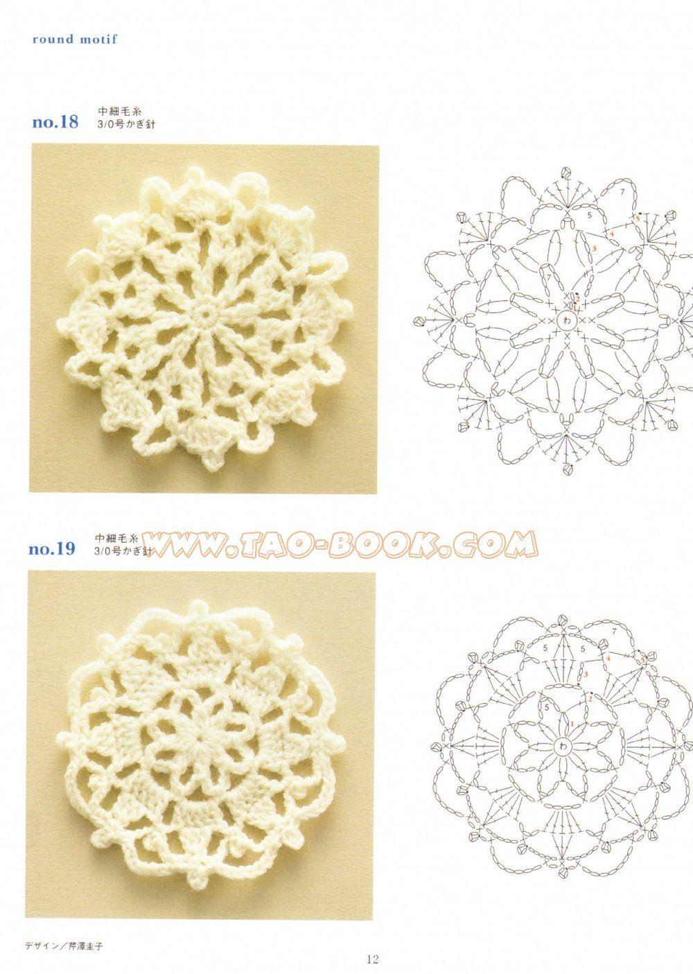 SOLO PUNTOS: Crochet cuadrados | Virkkaus malleja | Pinterest ...