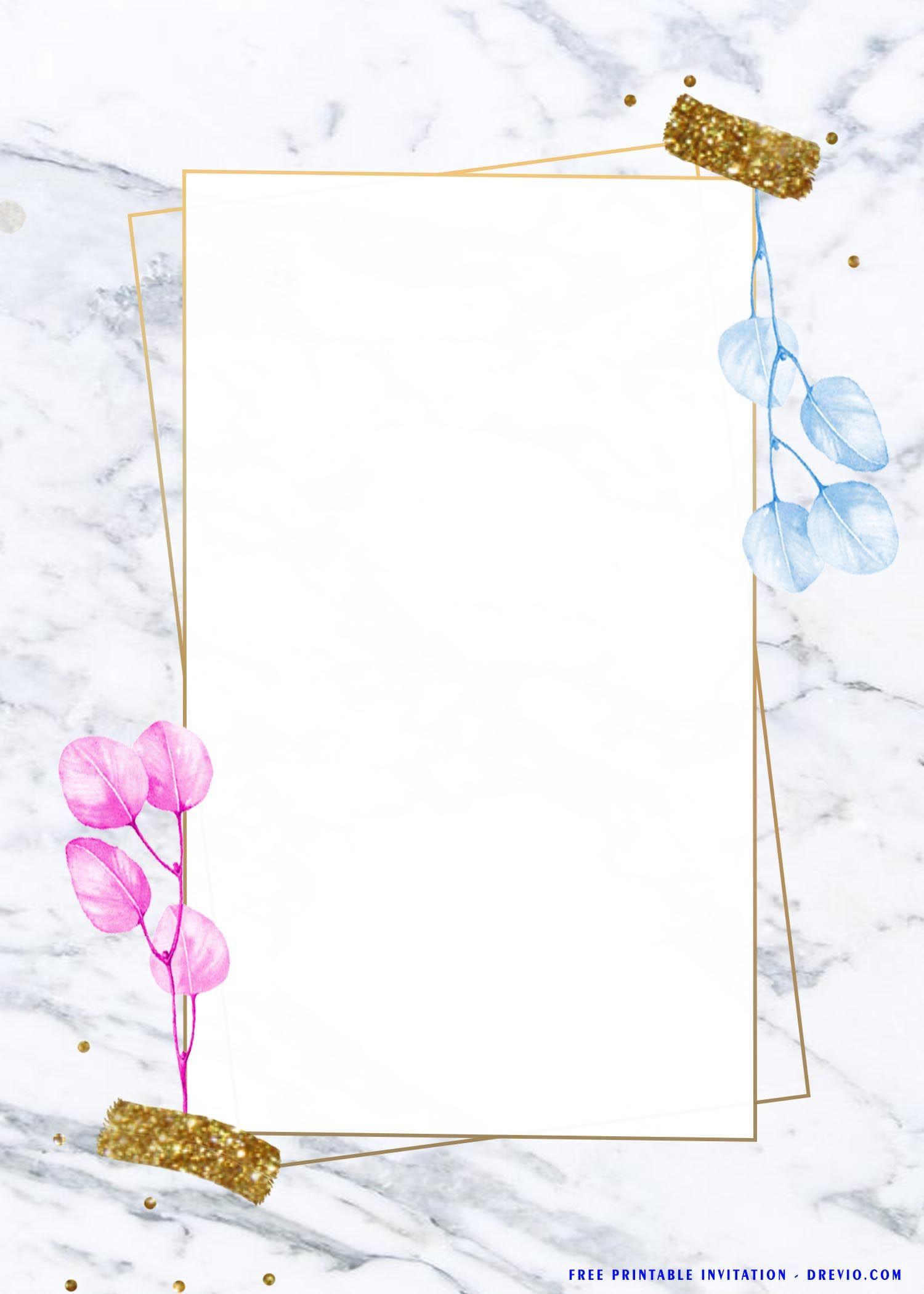 Free Printable Blue Eucalyptus Baby Shower Invitation Templates In 2021 Free Printable Birthday Invitations Baby Shower Invitations Printable Birthday Invitations