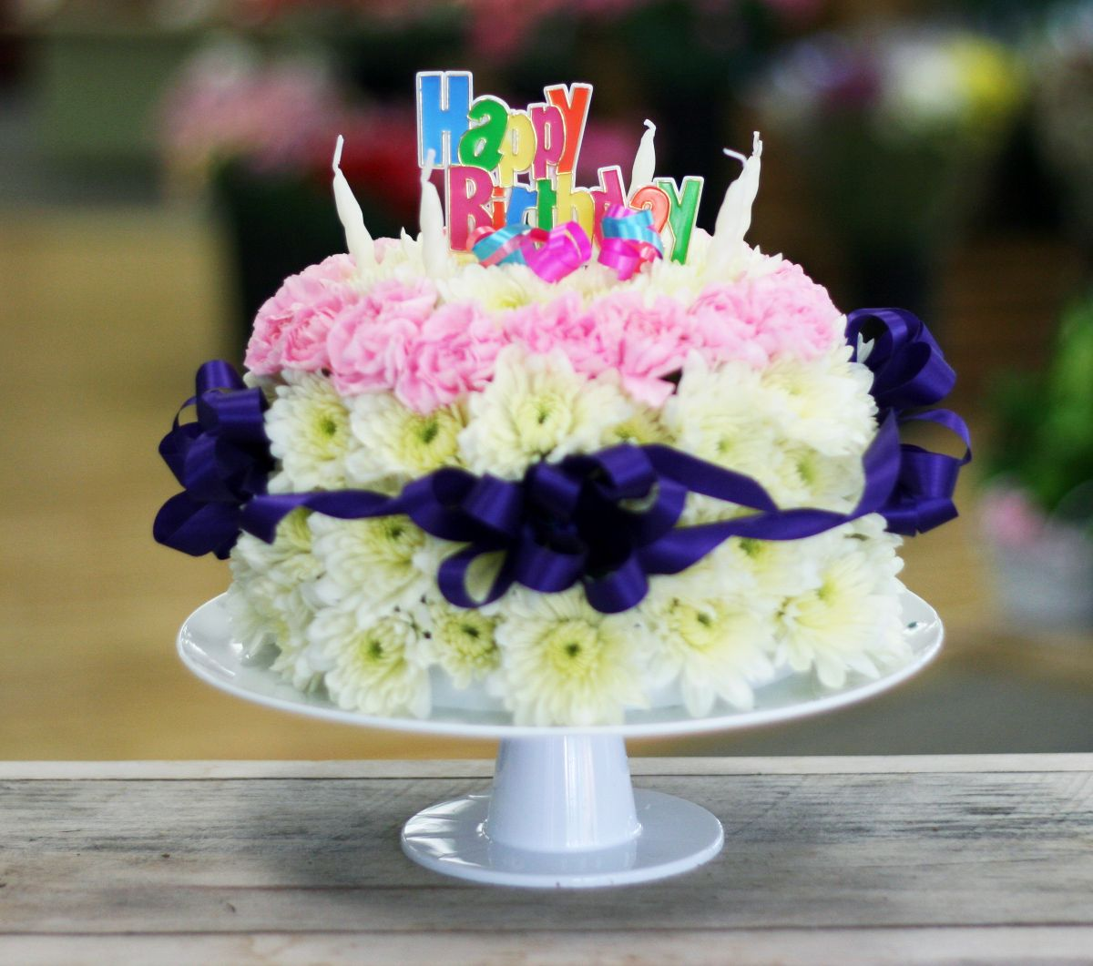 35 Awesome Birthday Flowers And Cake Images