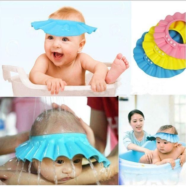 Baby Kids Children Soft Shampoo Bath Bathing Shower Cap Hat Wash Hair Shield W Baby Shower Cap Kids Shampoo New Baby Products