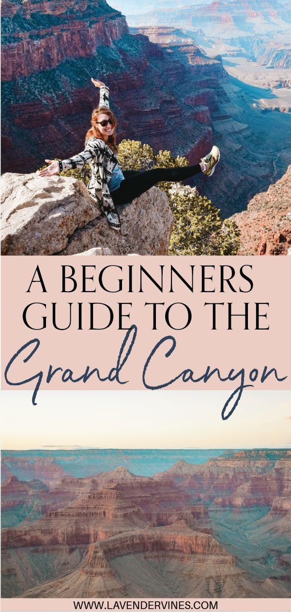 Don't miss the best things to do in the Grand Canyon! This Grand Canyon guide is perfect for understanding where to go and what to see on your Grand Canyon Arizona vacation. It goes over both the South Rim of the Grand Canyon, AND the North Rim. Click through to read! #grandcanyon #arizona #grandcanyontravel #hiking #camping #nationalpark #usatravel #usa #america #roadtrip #travelinspiration #travelguide #wanderlust #bucketlist #travelbucketlist #adventure