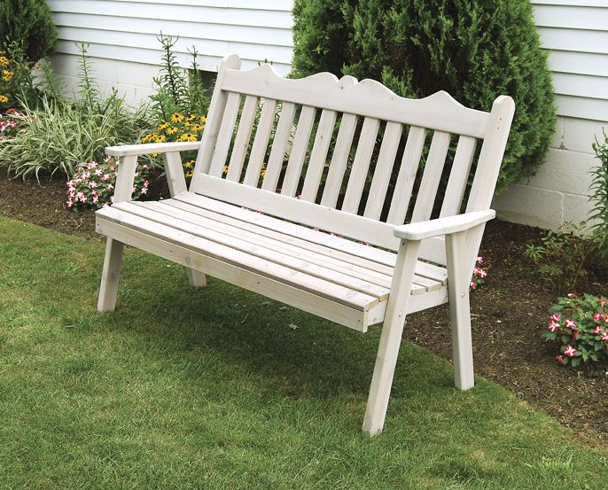 Western Red Cedar Garden Bench With Eco Friendly Soy Based