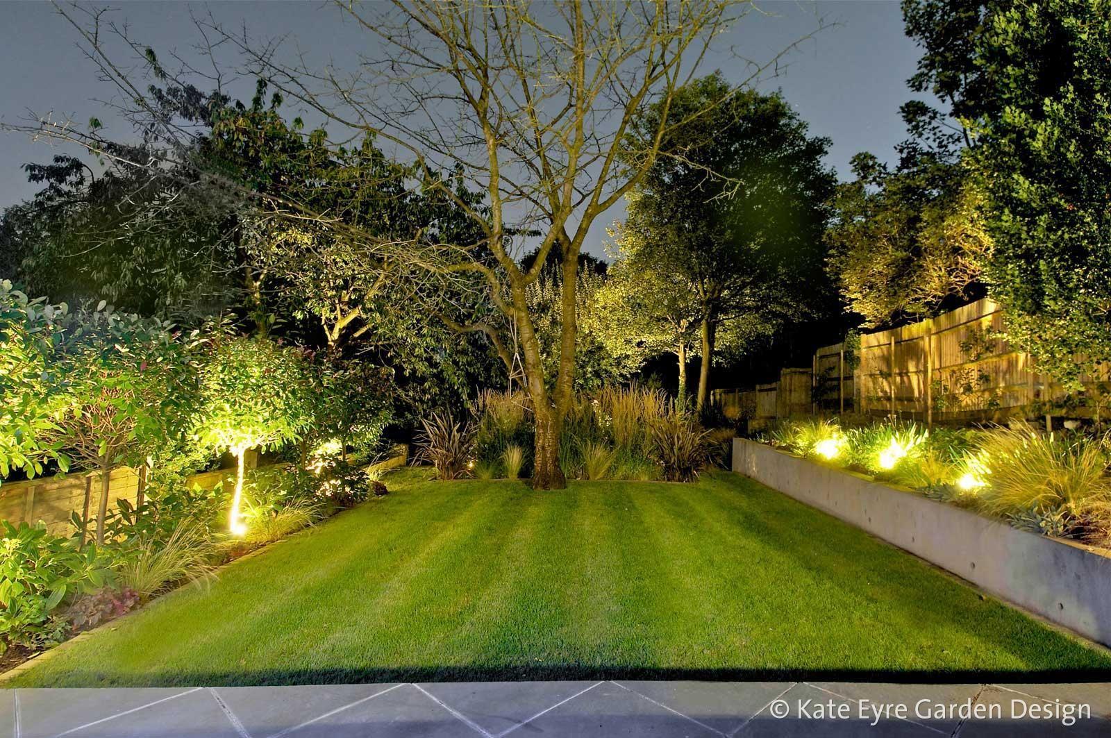 Large Gardens In London Kate Eyre Garden Design Garden Lighting Design Outside Garden Lights Garden Design