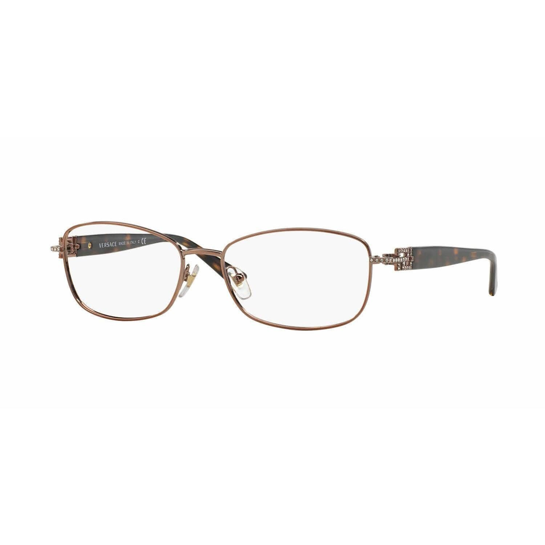 Versace Womens VE1226B 1013 Light Brown Rectangle Eyeglasses ...