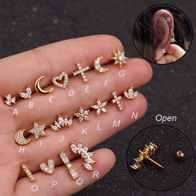 Photo of € 1.83 | 1 Piece Zirconia Stone Piercing Tragus Ring 1.2 * 6mm 16G Earrings Ear Piercing Cartiliage Ear Piercing Jewelry-in Body Jewelry from Jewelry & Accessories on AliExpress
