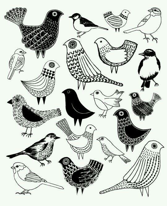Bird Zentangle 20 Coloring Printables
