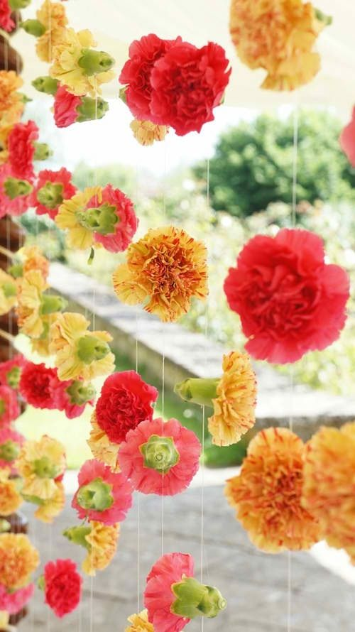 Diy Carnation Garland Streamers Spring Fling Party Dance Decorations Hanging Flowers