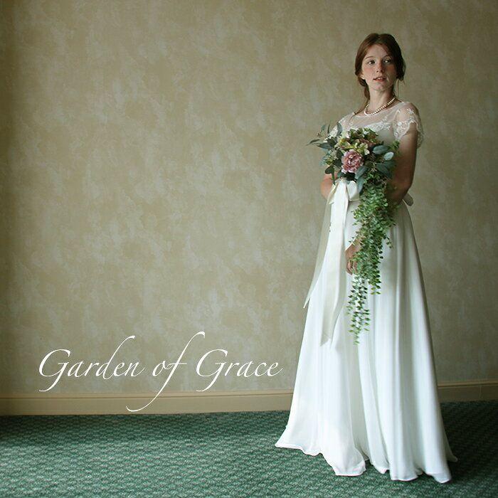 c1f51065a14c8 ウエディングドレスエンパイアラインウエディングドレス二次会花嫁ドレス花嫁ドレスブライダルボレロボレロ付エンパイア