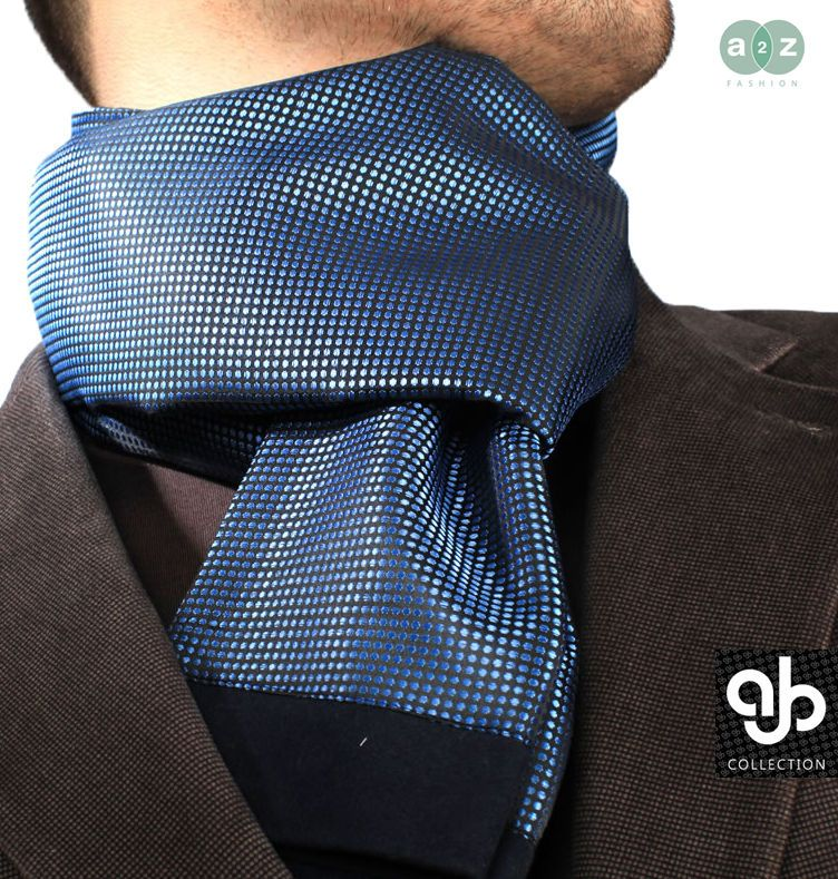 Details about New Mens Smart Casual Twin Scarves Silk