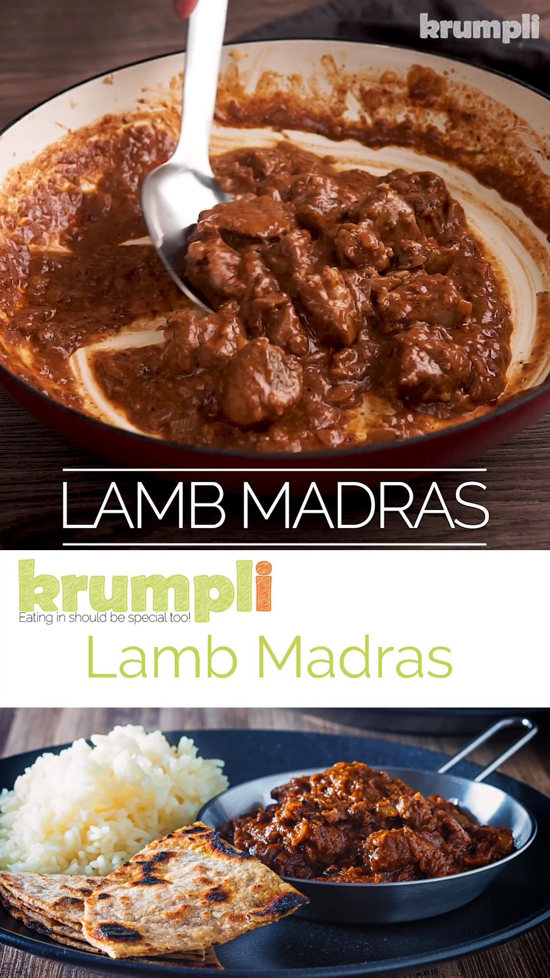 British Indian Lamb Madras Curry