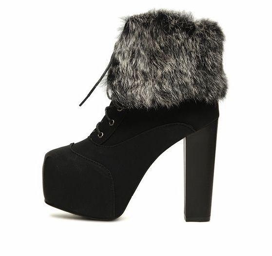 Beautiful high heel short boots Image Inspirations