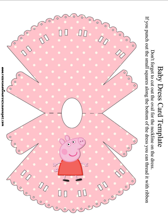 Peppa Pig: invitaciones para imprimir gratis.   vestido muñecas ...