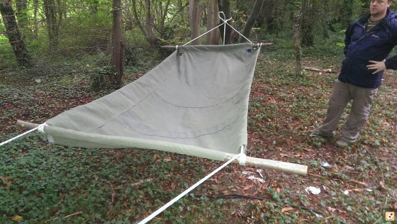 canvas hammock bedroll cot canvas hammock bedroll cot   cots   pinterest   cots bushcraft      rh   pinterest