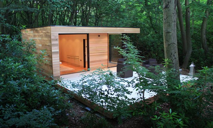 Modern Eco Friendly Garden House Studio in London garden