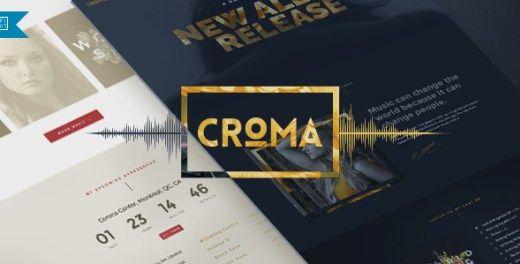 Croma - Responsive Music WordPress Theme | WordPress | Pinterest