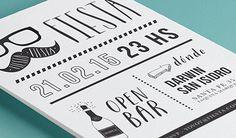 diseño de invitacion fiesta - diseño gráfico - invitaciones