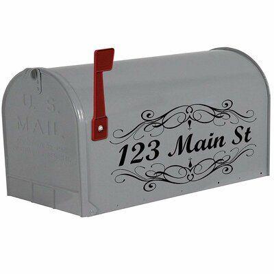 Vwaq Custom Letters Personalized Decals Street Address Mailbox