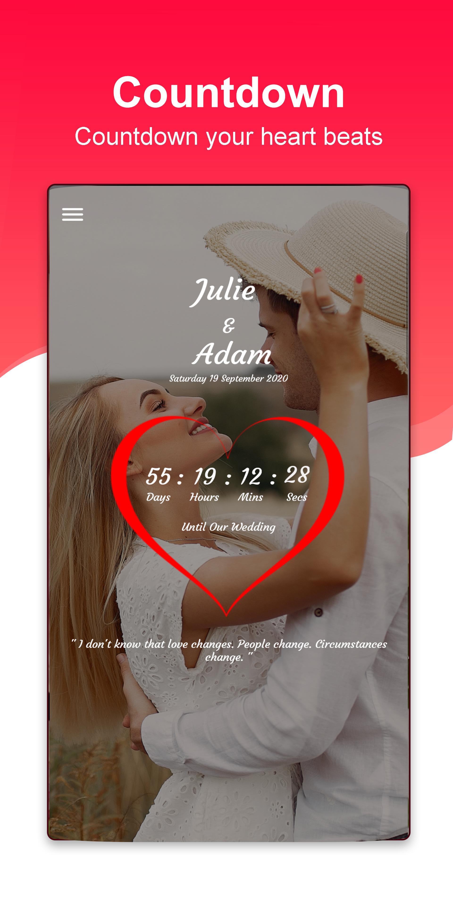 Wedding Countdown In 2020 Wedding Countdown Wedding Invitation Maker Wedding Day
