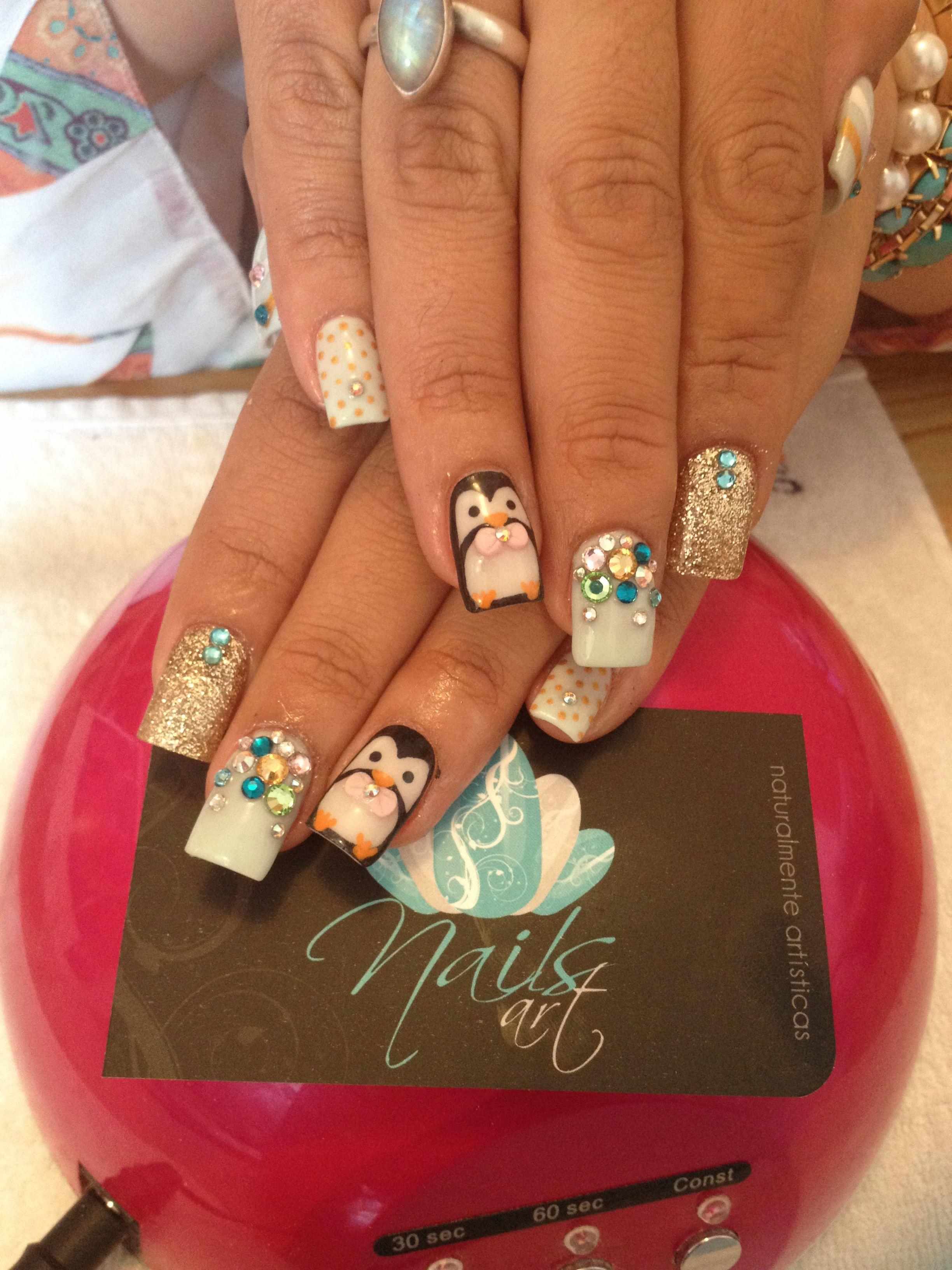 Nails art acrylic nails christmas nails Christmas nails