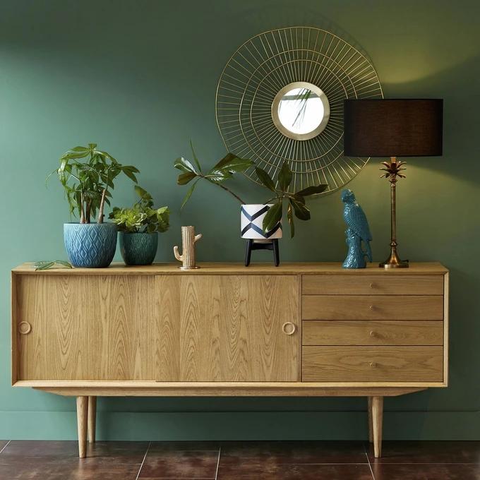 Buffet Vintage 2 Portes 4 Tiroirs Quilda En 2020 Deco Idees De Decor Decoration Maison