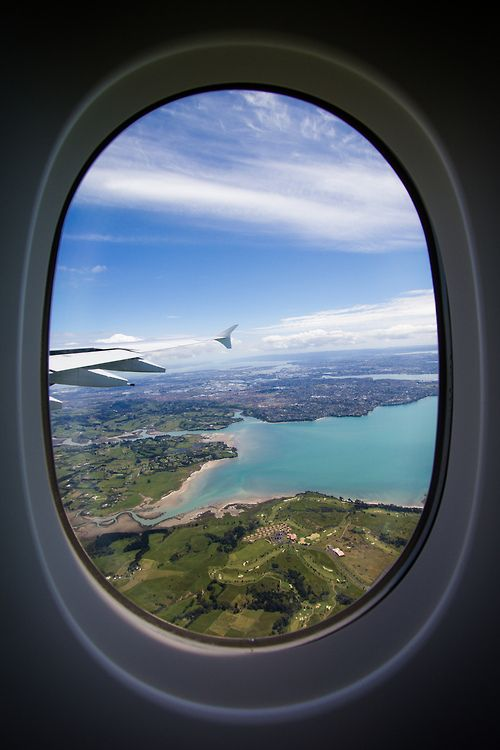 Auckland New Zealand By David Williams Airplane Window View
