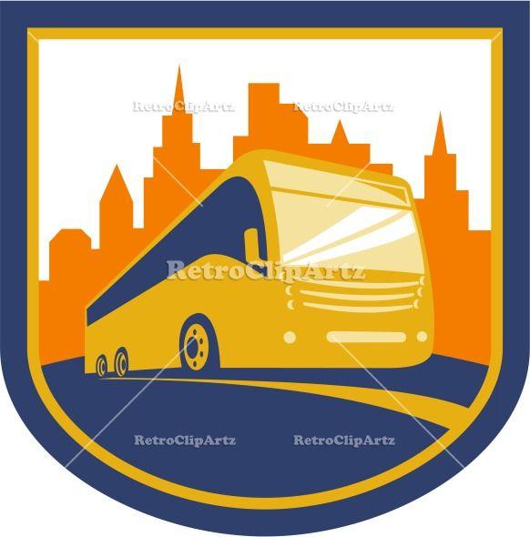artwork, building, bus, city, coach, crest, graphics ...