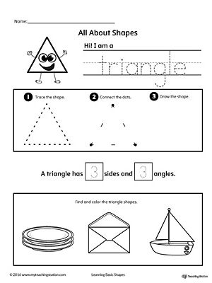 All About Triangle Shapes Triangle Worksheet Shapes Worksheets Shapes Worksheet Kindergarten