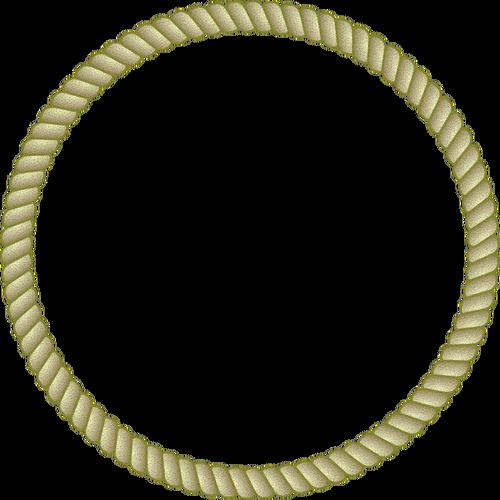 Round Rope Frame Vector Image Rope Frame Circle Frames Frame Logo