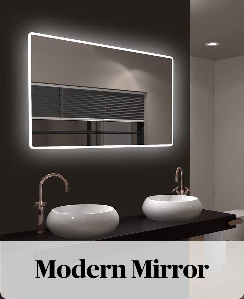 Modern Mirror In 2020 Badezimmerspiegel Badezimmerspiegel Beleuchtet Badspiegel
