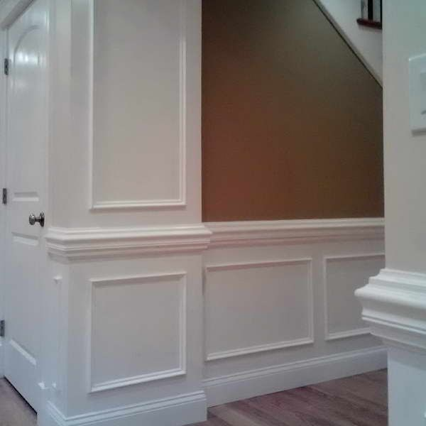 Picture Frame Wainscoting With Heavy Chair Rail. This Is
