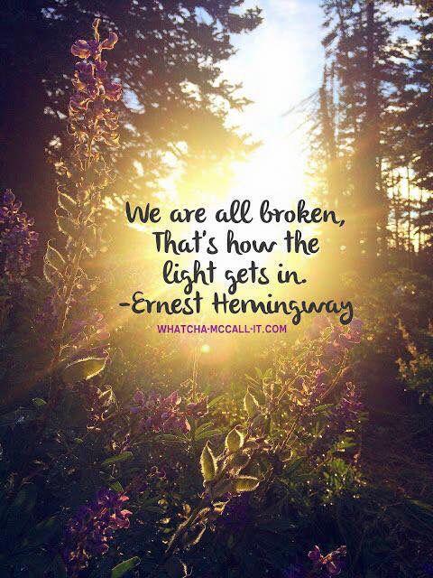 We are all broken...