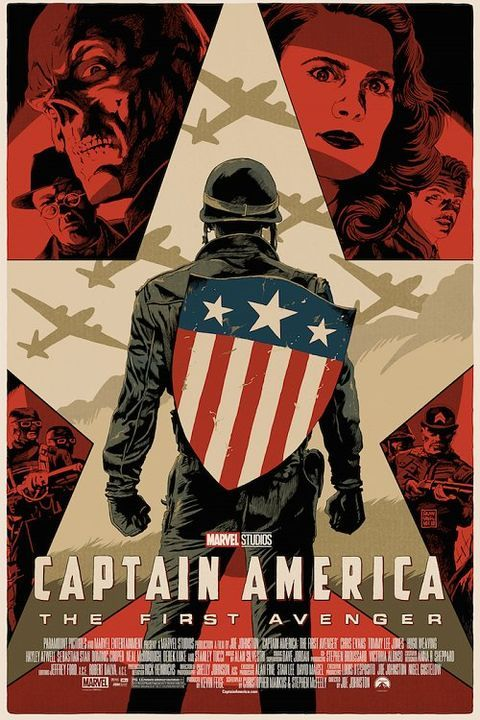 REVEALED! My poster for @ChrisEvans @CaptainAmerica THE FIRST AVENGER movie, part of tonight's @MondoNews gallery show celebrating the ...
