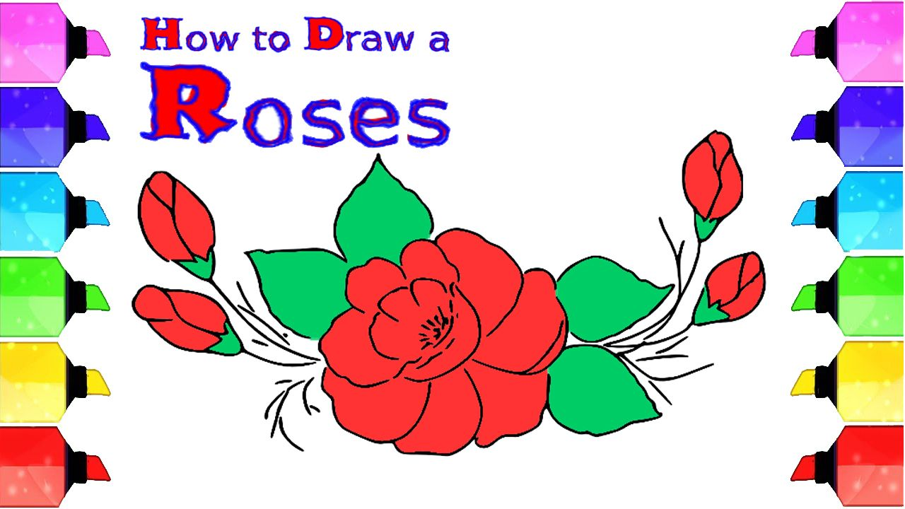 Sketches Of Roses Easy Flower Drawing For Beginners How To Draw Drawing For Beginners Easy Flower Drawings Flower Drawing