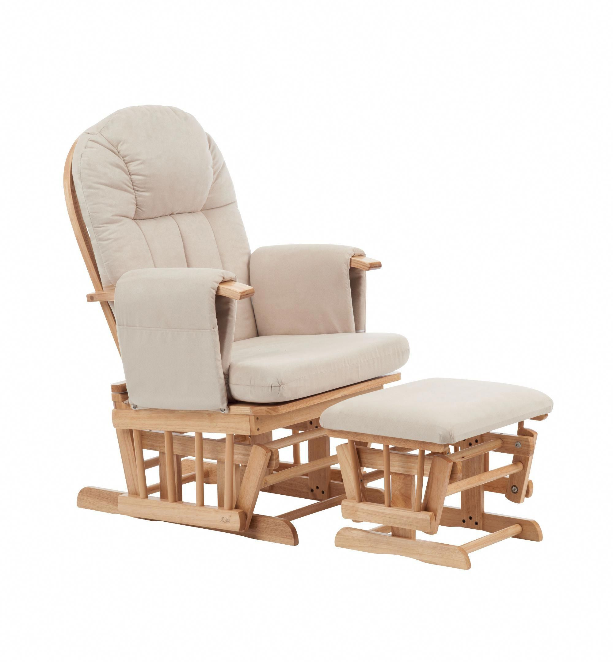Incredible Mothercare Natural Reclining Glider Chair With Beige Cushion Creativecarmelina Interior Chair Design Creativecarmelinacom