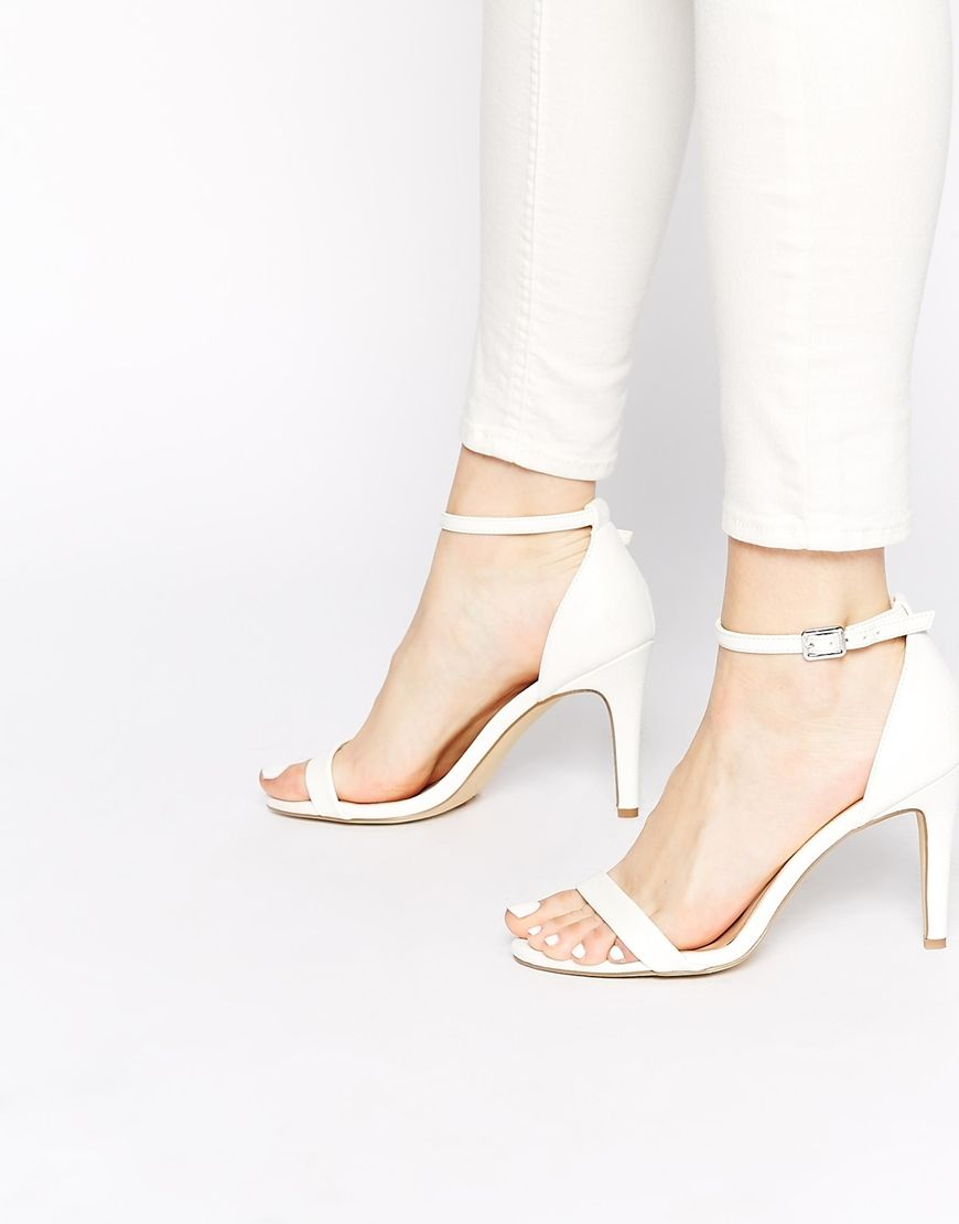 Suedette Barely There Heeled Sandal - Nude New Look NwxmCBehw