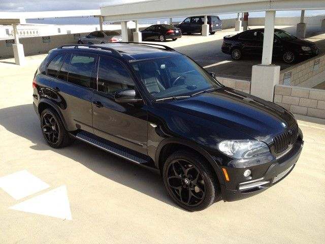 2008 Bmw X5 4 8i Blacked Out With Images Black Car Luxury Suv