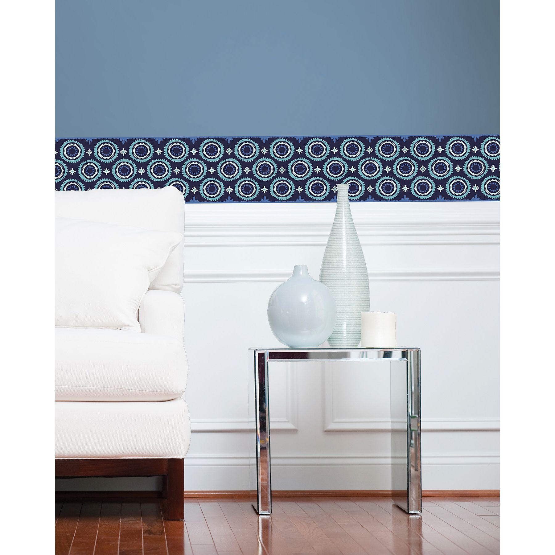 Wallpops wall pops malaya stripes wall decal set indigo u lilac