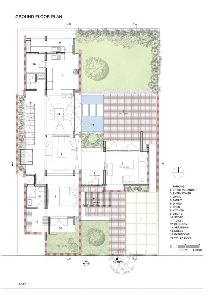 Gallery Of Brick House Architecture Paradigm 19 Architectural Floor Plans Brick House Plans Architecture House