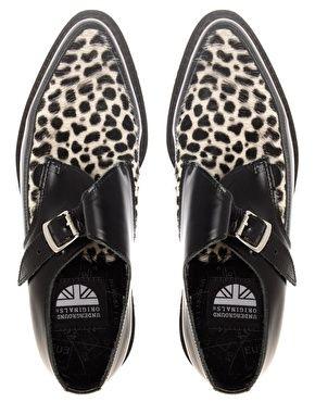 Enlarge Underground Hacienda Monk Leopard Mix Pointed Toe Creepers  Hópárduc f5e978854c