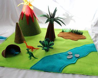 Travel Town Car Play Mat Roll Up Quiet Play Mat Dinosaur Play Felt Play Mat Toys For Boys